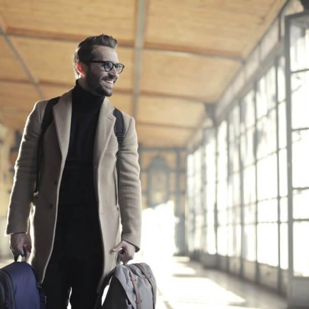 business travel man
